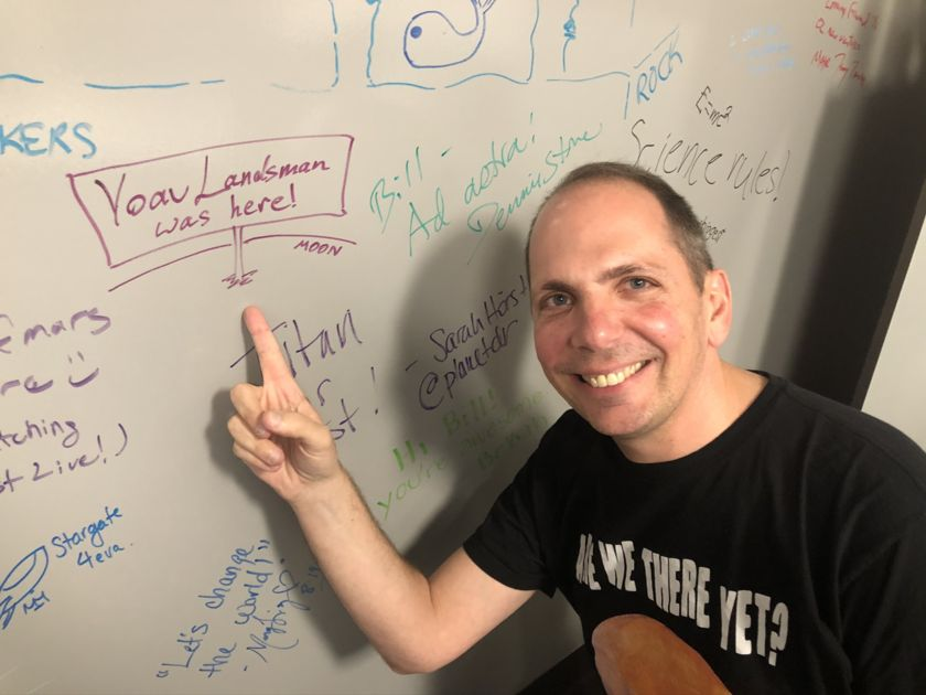 Yoav Landsman Signs the Space Wall of Fame