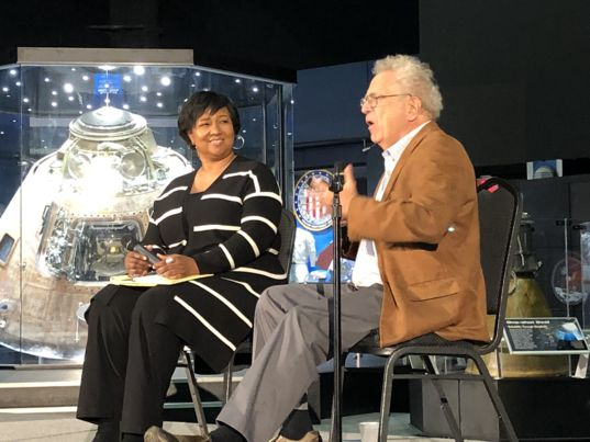 Mae Jemison and Lou Friedman at NIAC Symposium