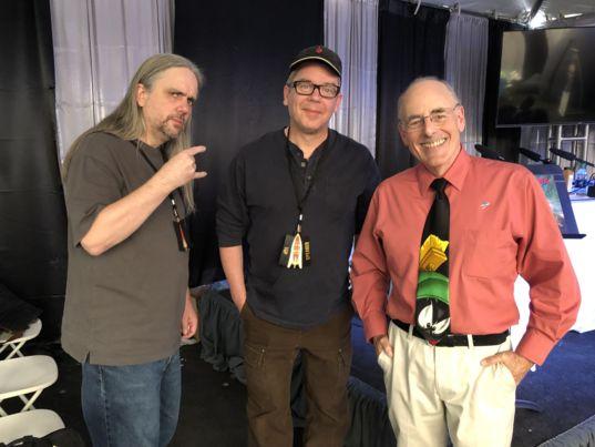 Ty Franck and Daniel Abraham with Mat Kaplan