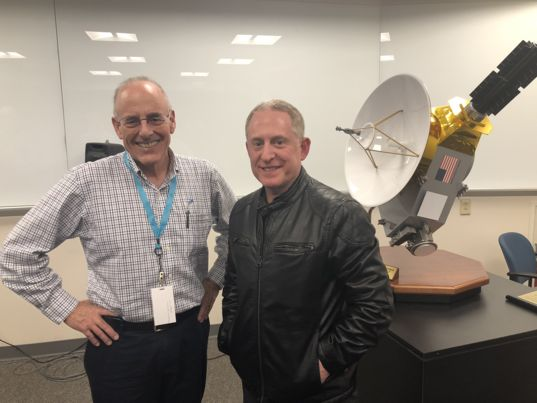 Mat Kaplan and Alan Stern at JHAPL