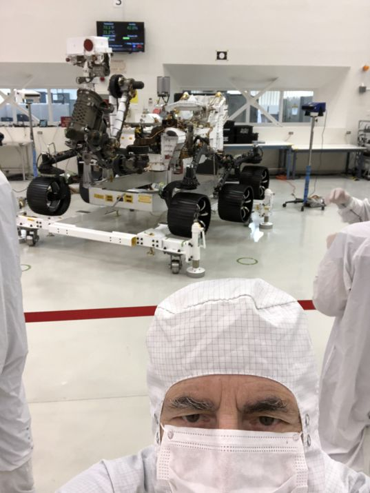 Mat Kaplan selfie with Mars 2020