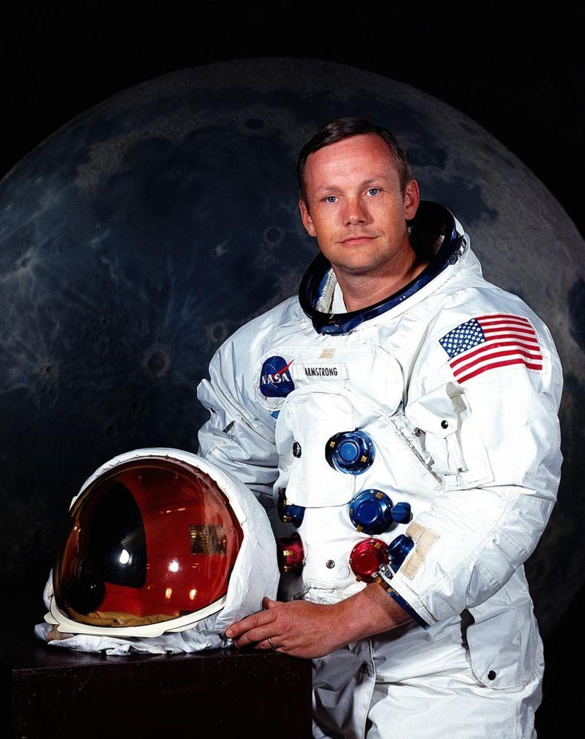 Portrait of Apollo 11 astronaut Neil Armstrong head shot