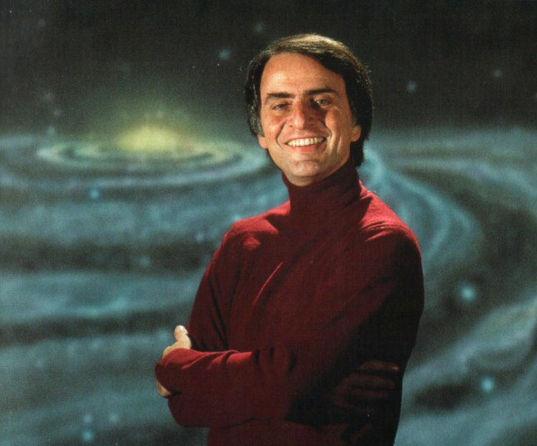 Carl Sagan portrait from Cosmos