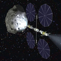 Ad Astra asteroid deflection rocket