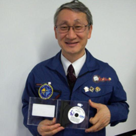 Jun'ichiro Kawaguchi with the IKAROS names disc head shot
