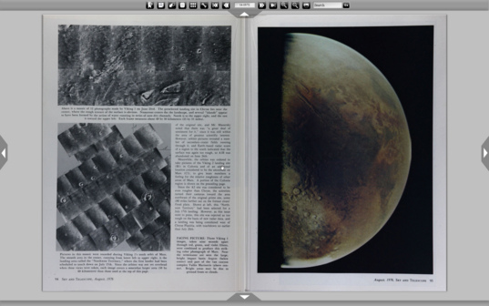 Two pages from the August 1976 issue of Sky & Telescope