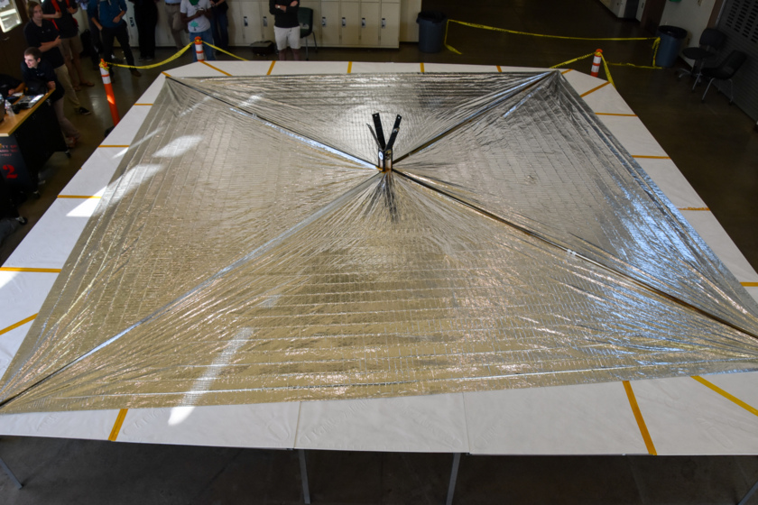 LightSail 2 sail deployment test success, 23 May 2016
