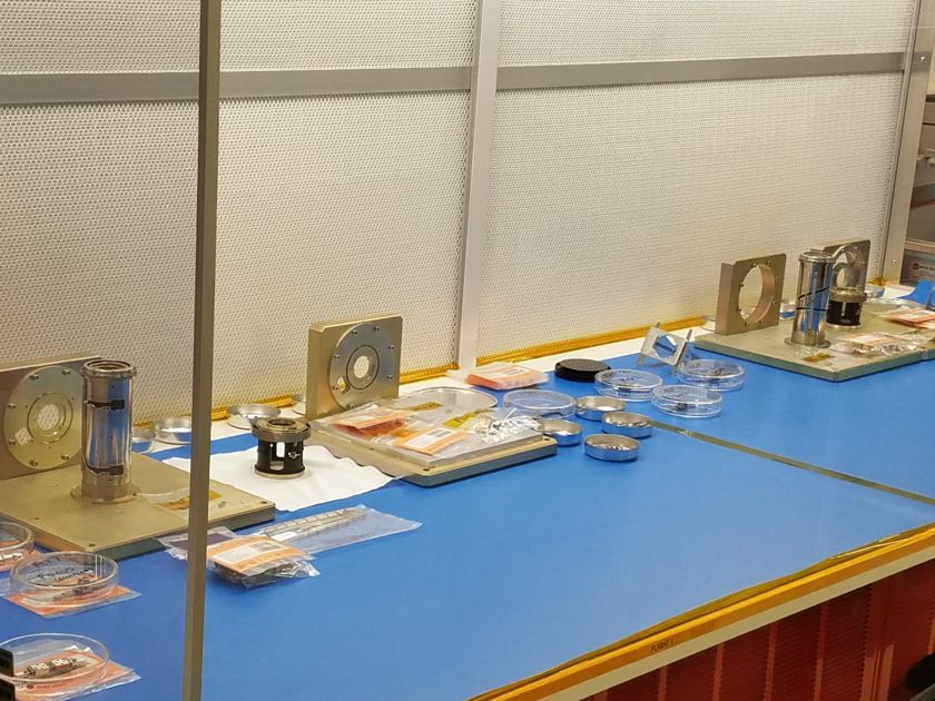 Mastcam-Z flight hardware parts preparing for assembly