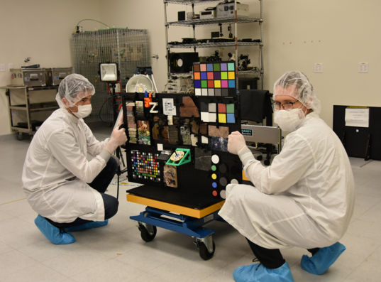 The Mastcam-Z Geo Board in the Clean Room