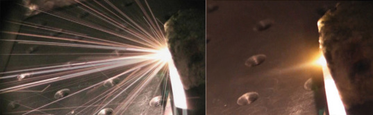 Laser Bees: Zapping Olivine Rock with a Laser