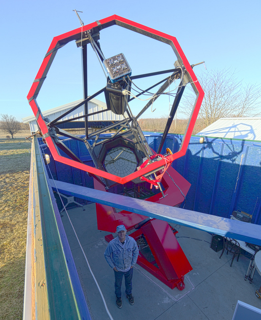 Robert Holmes at the Astronomical Research Institute (ARI) in Westfield, Illinois