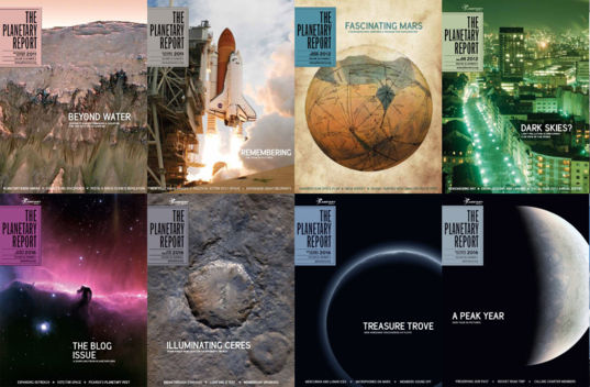 Some Planetary Report Covers