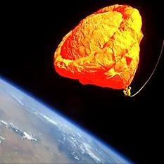Armadillo Aerospace test flight ballute