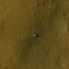 Curiosity photo from HiRISE landing plus 12 days