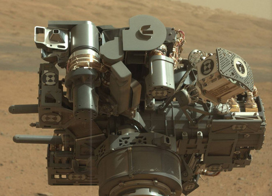 Curiosity's Turret: CHIMRA angle view