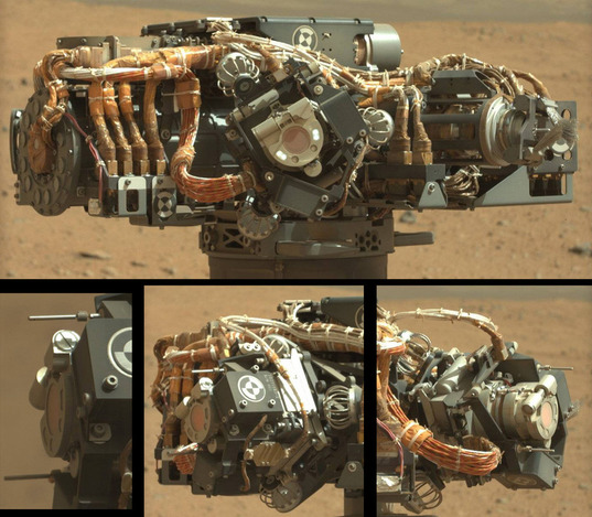Curiosity's Turret: several views of MAHLI