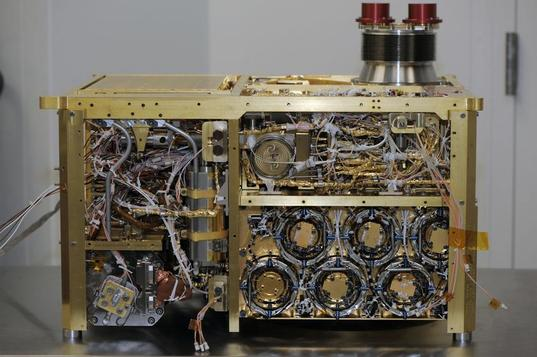 Curiosity's SAM instrument, from the side (side panel removed)