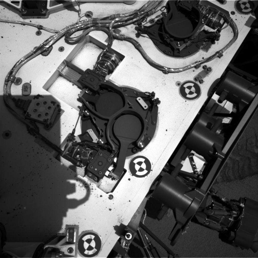 Curiosity's deck with SAM and Chemin inlets and UV sensor