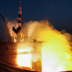 Soyuz TMA-07M liftoff
