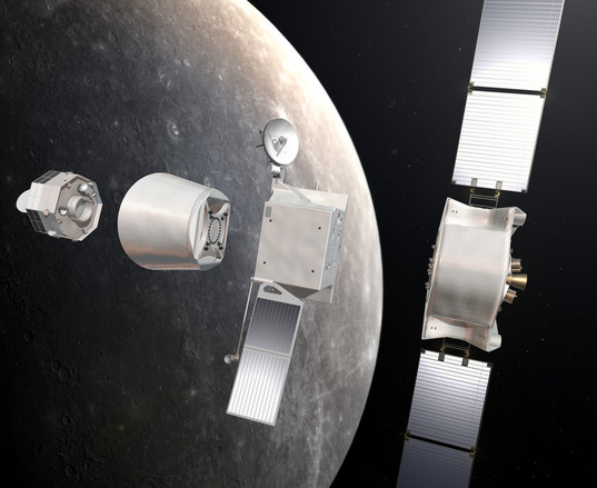 BepiColombo at Mercury (separated view)