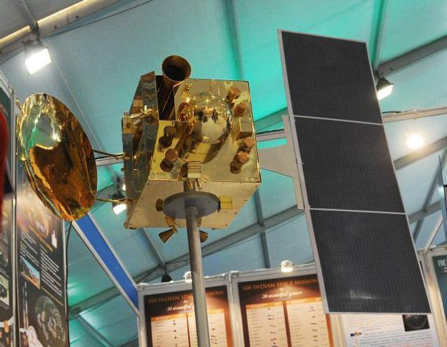 Model of India's Mars orbiter mission