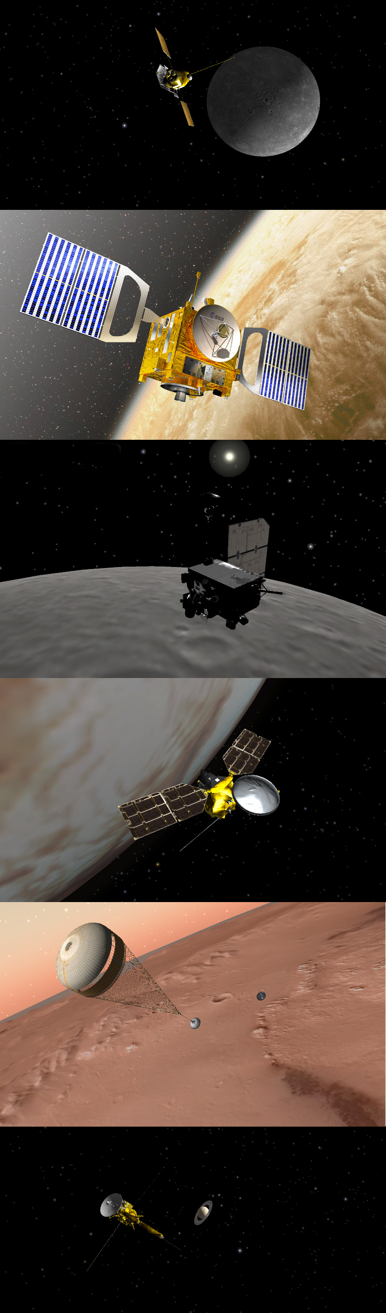 Six Spacecraft in August