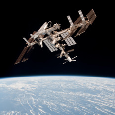 International Space Station with Space Shuttle Endeavour