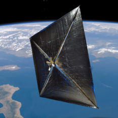 Artist concept of a solar sail in space