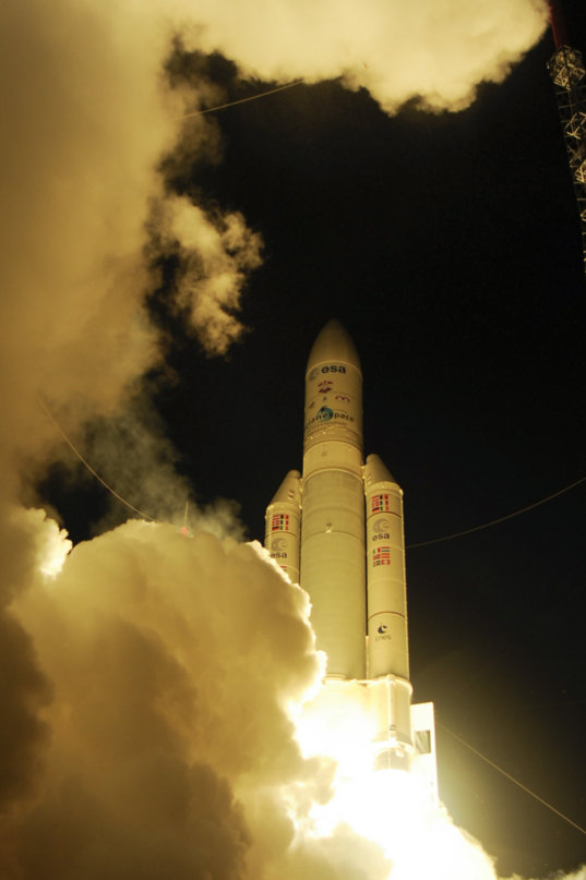 Liftoff of Ariane 5 VA213 with ATV-4