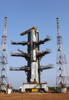GSLV-D3 on the pad