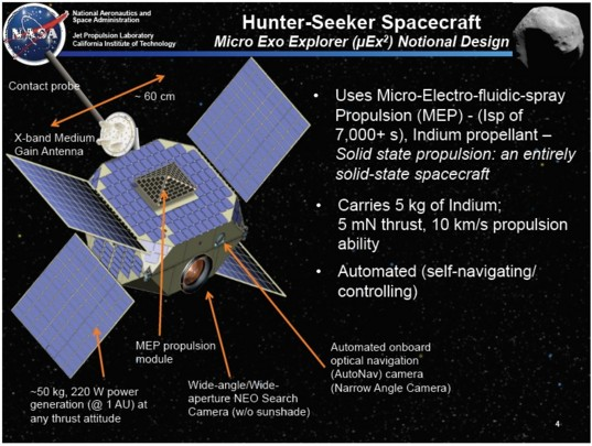 Hunter Seeker spacecraft concept