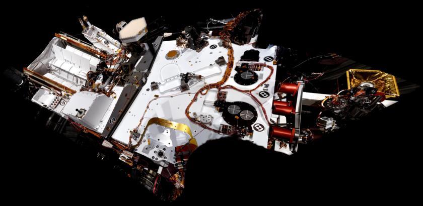 Curiosity's first 'deck pan'