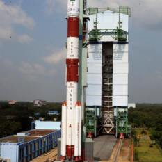 India's PSLV-C25 prepared to launch the Mars Orbiter Mission