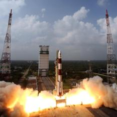 Mars Orbiter Mission launch (wide view of Satish Dhawan Space Centre)