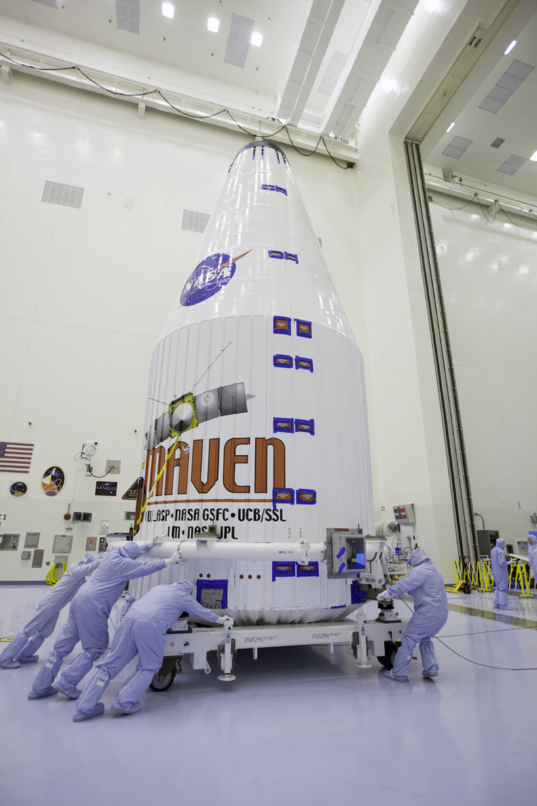 MAVEN inside its fairing, November 6, 2013