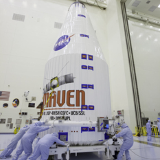 MAVEN inside its fairing, November 6, 2013