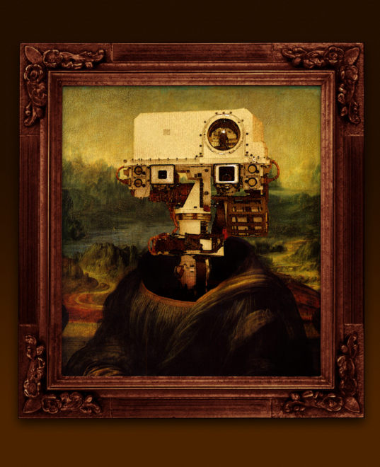 What if Da Vinci had painted Curiosity?