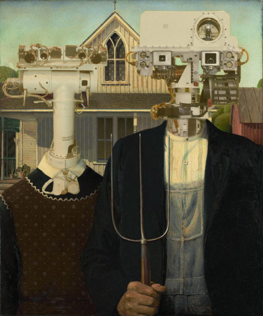 What if Grant Wood had painted Curiosity?