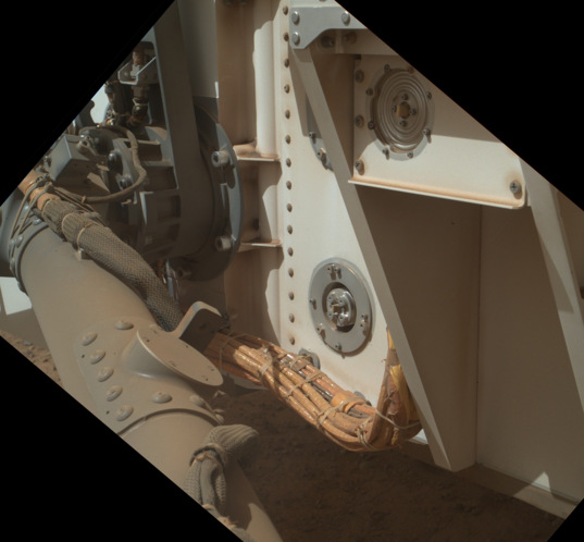 Curiosity SAM instrument atmospheric inlet ports, sol 544