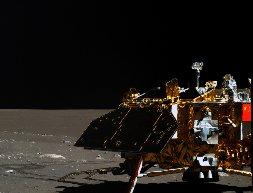 3D Yutu image of the Chang'e 3 lander from the mission's third solar day