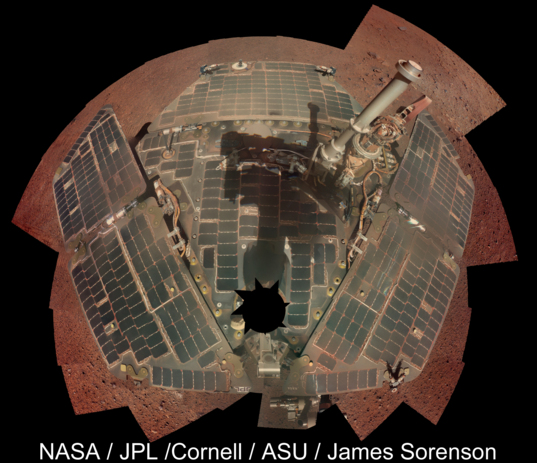 Opportunity deck panorama, sol 3611-3613 (March 22-24, 2014)