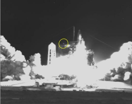 "Infrared video of ""high flier"" debris"