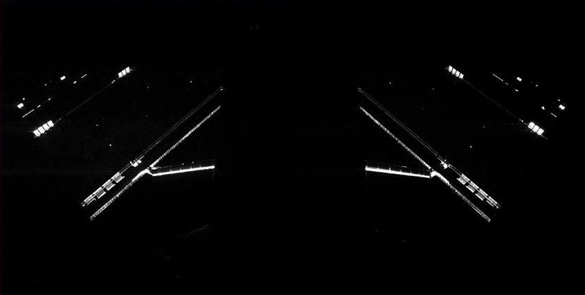 Philae CIVA portrait of Rosetta's solar panels, April 14, 2014