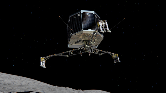 Philae descent (artist's concept)