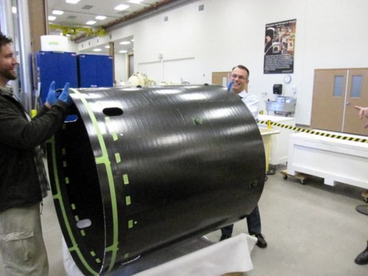 OSIRIS-REx core cylinder
