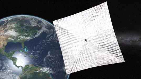 LightSail-1 in Earth orbit
