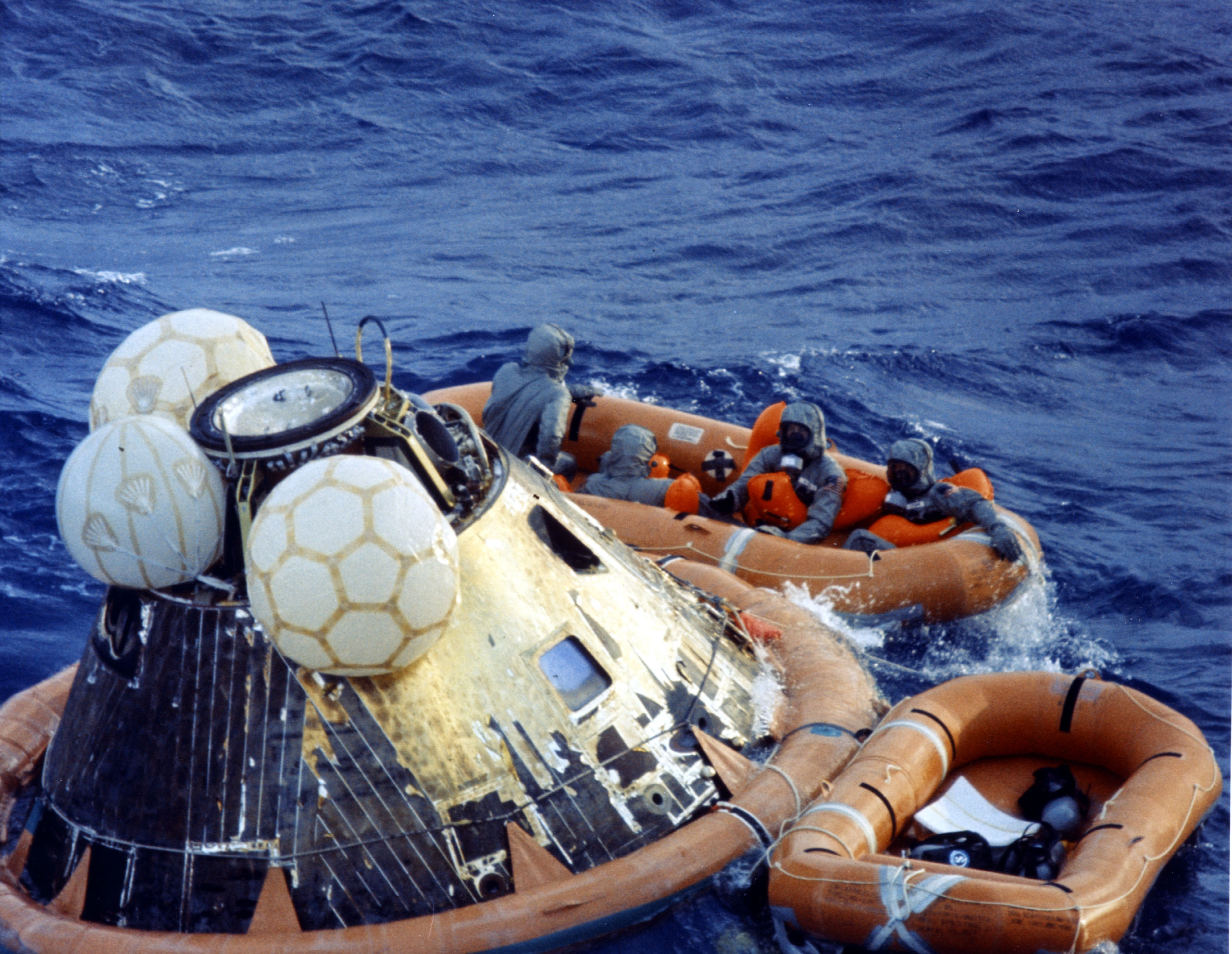 Apollo 11 after splashdown | The Planetary Society