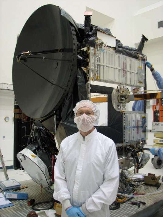 Marc Rayman with the Dawn spacecraft