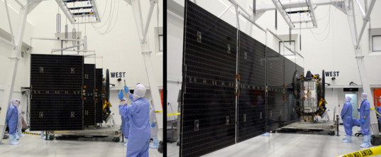 Testing the deployment of Dawn's solar panels