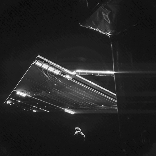 Philae's passenger-side view of comet Churuymov-Gerasimenko